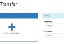 psitransfer:一个基于node.js的极简临时网盘-荒岛