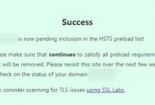 把域名加入到HSTS Preload List-荒岛